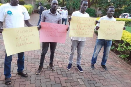 File: South Sudanese students in Zimbabwe
