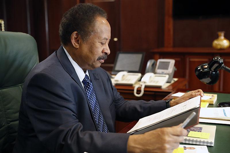 Sudanese Prime Minister Abdalla Hamdok [Photo by SUNA]