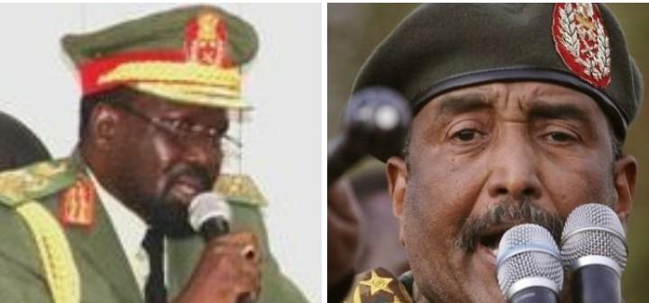 Gen. Salva Kiir Mayardit, Gen. Abdel Fattah al-Burhan [Photo by Sudans Post]