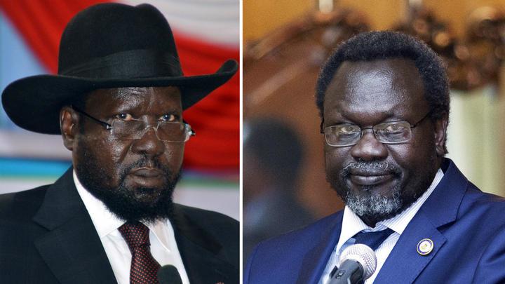Photo: South Sudan President Salva Kiir Mayardit and First Vice President Dr. Riek Machar Teny