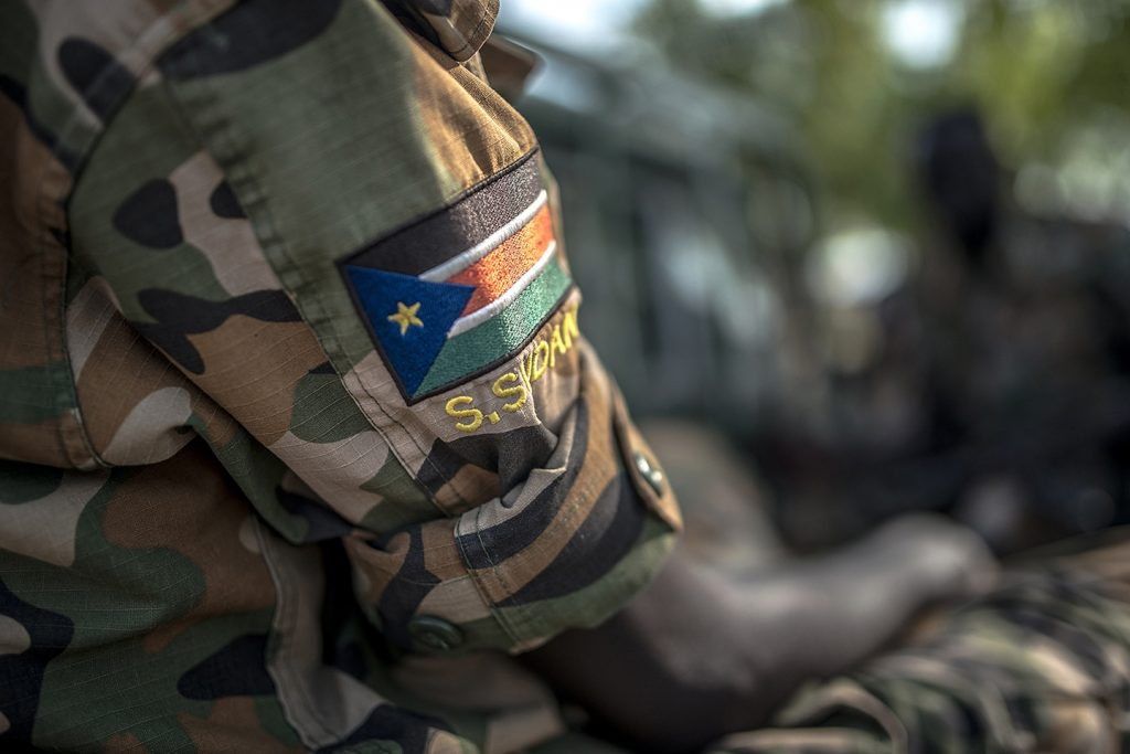 A South Sudanese soldier seen at unidentified area [Photo by unknown]