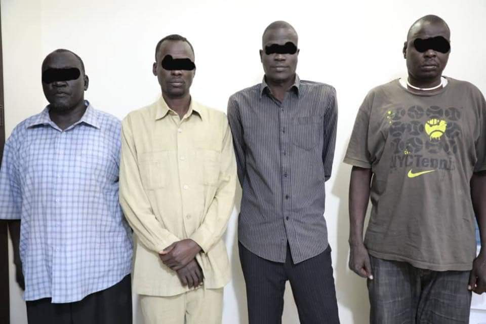 South Sudan rebel officers arrested by the Sudanese security in Khartoum in February 2020 [Photo by RSF]