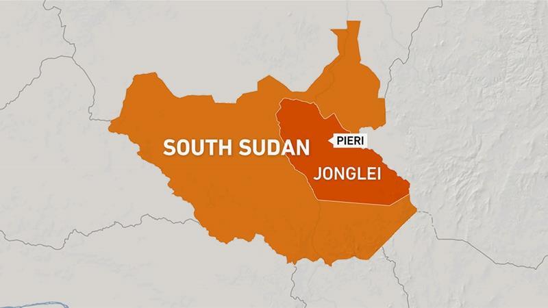 Jonglei state appears inside South Sudan's map [Photo by Al Jazeera]