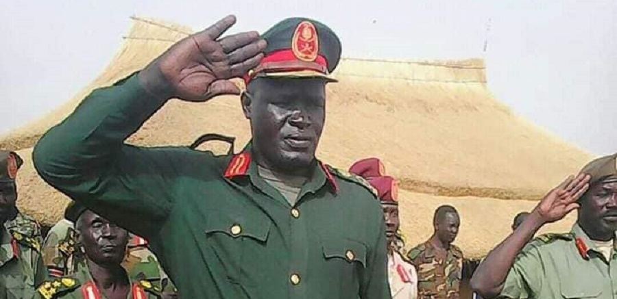 General Johnson Olony who is nominated by the SPLM-IO for the governorship of Upper Nile state (Photo via Facebook)