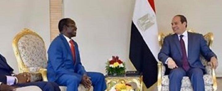 Photo: South Sudan Vice-president James Wani Igga meeting Egyptian President Abdel Fattah el-Sisis in Cairo
