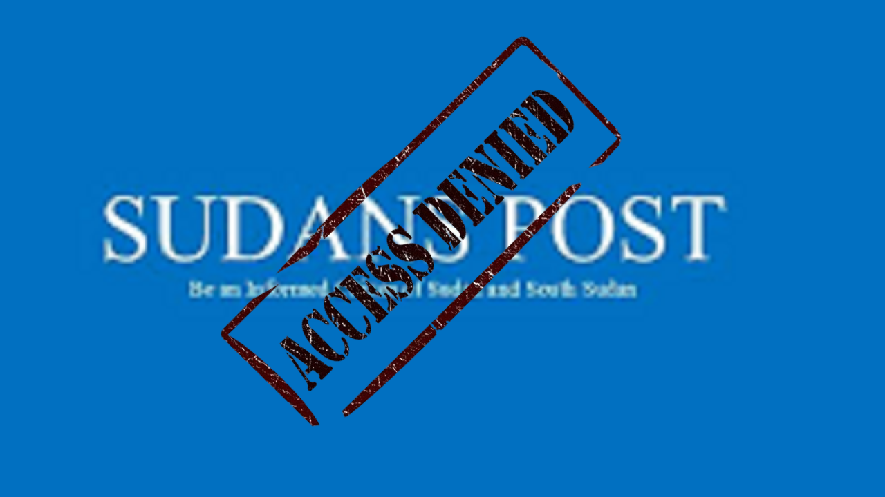 Sudans Post website is blocked in some parts of Juba [Sudans Post Logo]