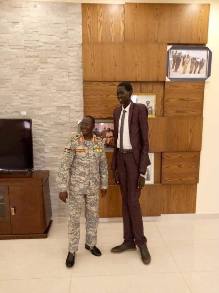 Former South Sudan Chief of Defense with son