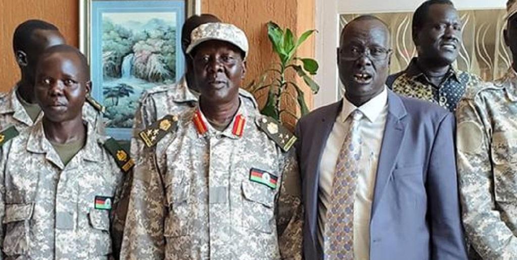 SPLA-IO defector Brigadier General Peter Gatbel Thow [Photo by Sudans Post]