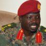 SPLA-IO spokesman Col. Lam Paul Gabriel speaking to the press in Juba [Photo via Getty Images]