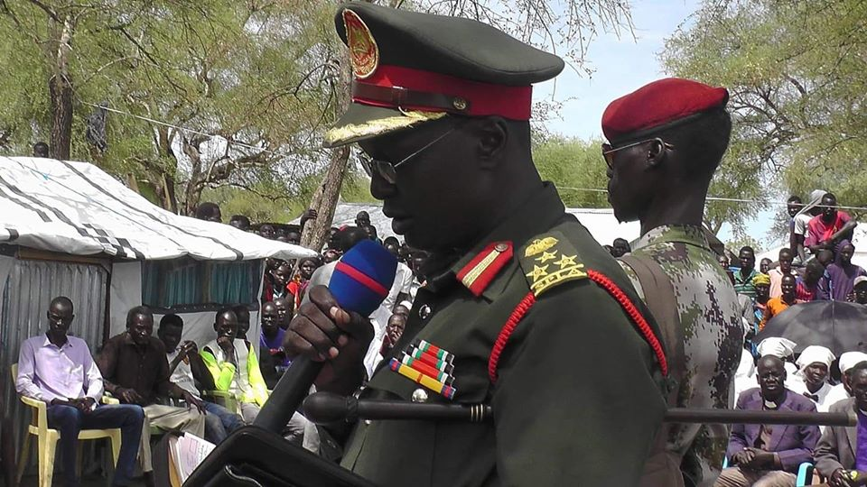 South Sudan opposition military spokesman Brigadier General William Gatjiath Deng [Photo by Sudans Post]
