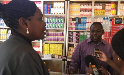 Western Bahr el Ghazal state governor Sarah Cleto touring Wau's Jou Market [Photo by WBGS governor's office]