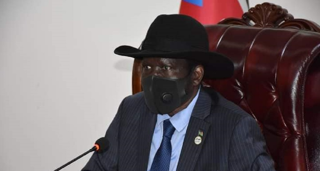 South Sudan President Salva Kiir Mayardit speaking during the swearing in ceremony of newly appointed minister of finance in Juba on Friday [Photo by the Presidency]