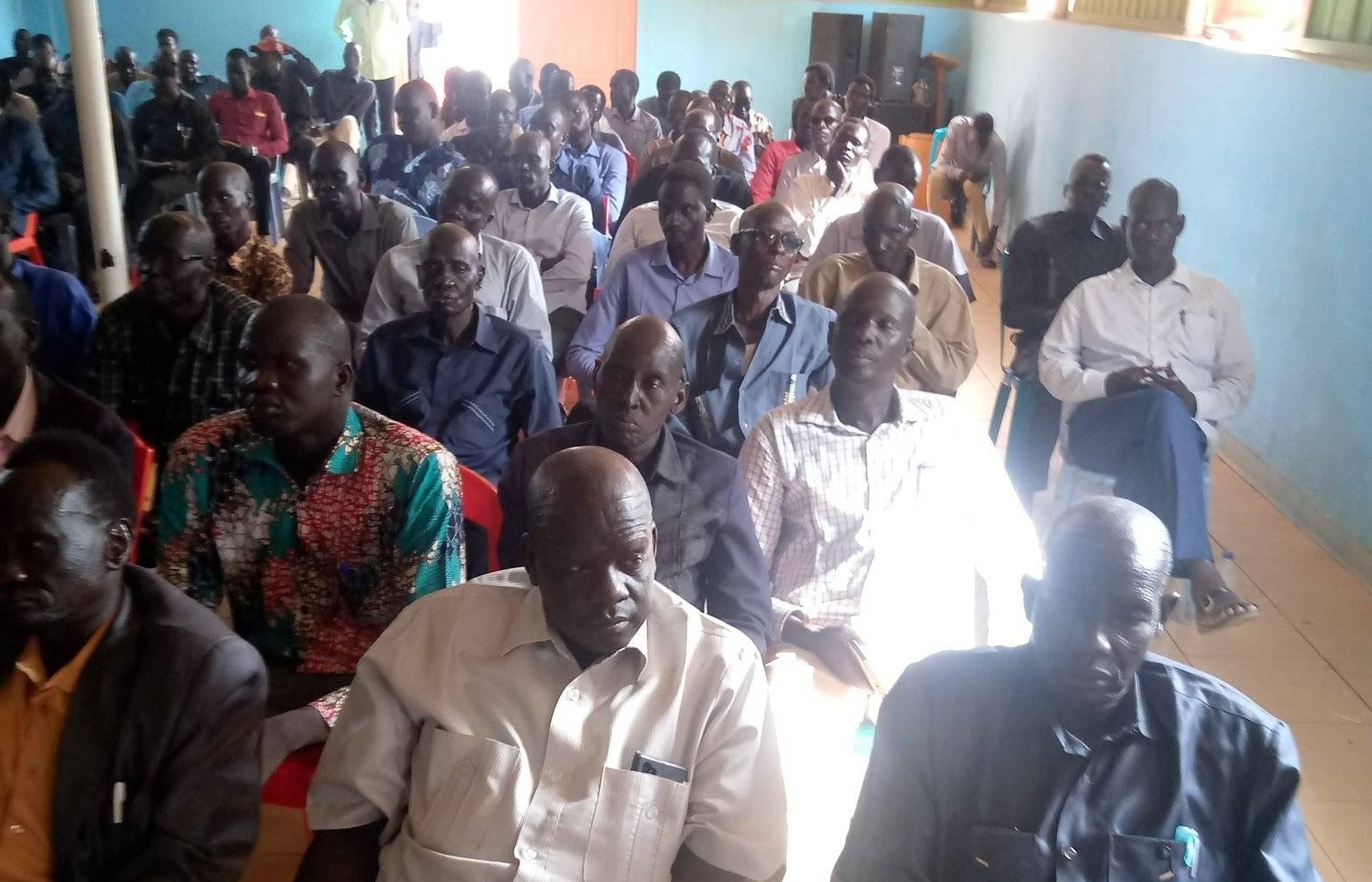Members of the Leek community in Sudan attending election on Friday, September 18, 2020 [Photo obtained by Sudans Post]