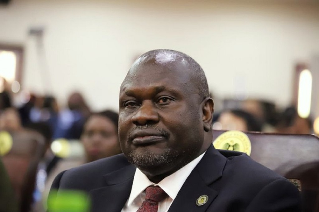 SPLM-IO chairman Dr. Riek Machar Teny attending a meeting of the parties with United Nations delegation in October 2019 [Photo by unknown]