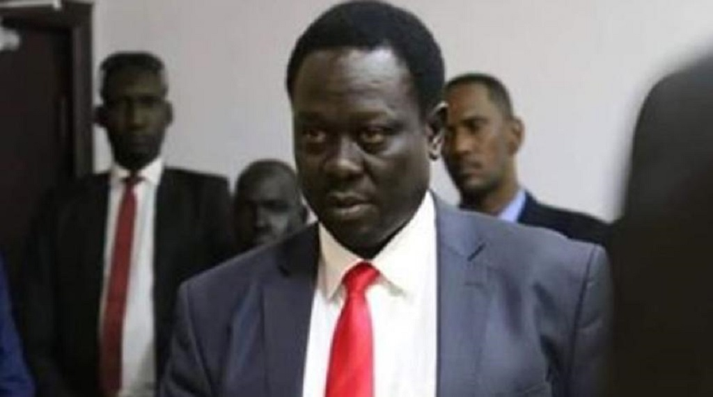 South Sudan's Vice President, and chairman of the National Committee on Covid-19, Hussein Abdelbaggi [Photo by Sudans Post]