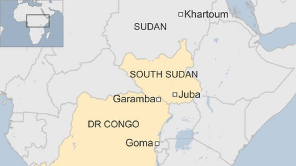 South Sudan and Congo in a map [Photo by BBC]