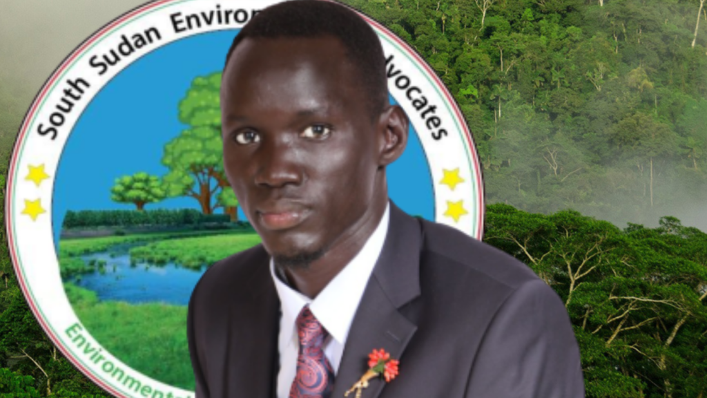 Founder and executive director of South Sudan environmental advocates Philip Ayuen Dot [Photo by SSEA]