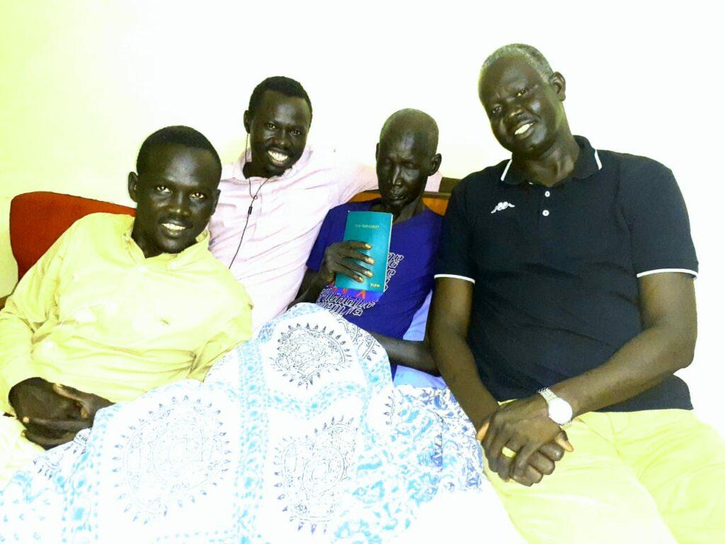 Dingnyang in a hospital with Gatkuoth Biel Nyang [Photo courtesy]