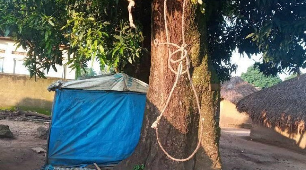 The tree were the woman hanged herself [Photo by Awan Achiek/Sudans Post]