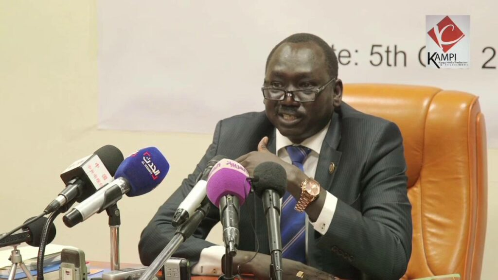 South Sudan investment minister Dhieu Mathok Diing Wol [Photo by SUNA]