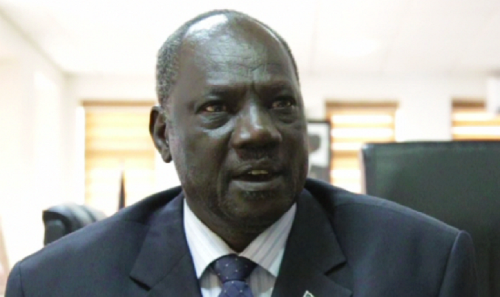 South Sudan Information minister and government spokesman Michael Makuei Lueth [Photo via SSNA]