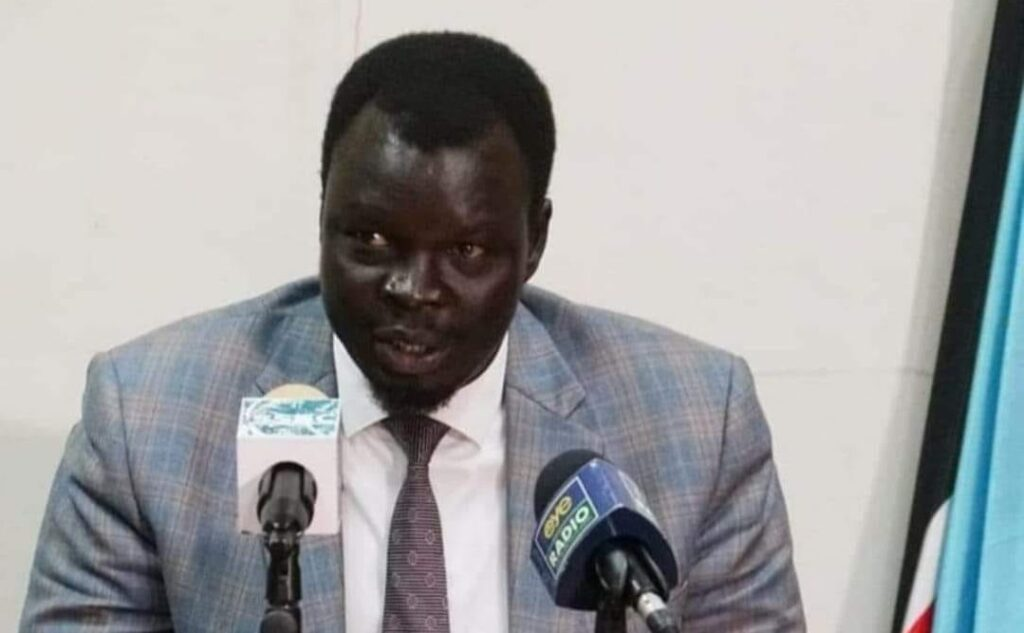 Former spokesman of vice-president Taban Deng Gai Agel Ring Machar [Photo courtesy]