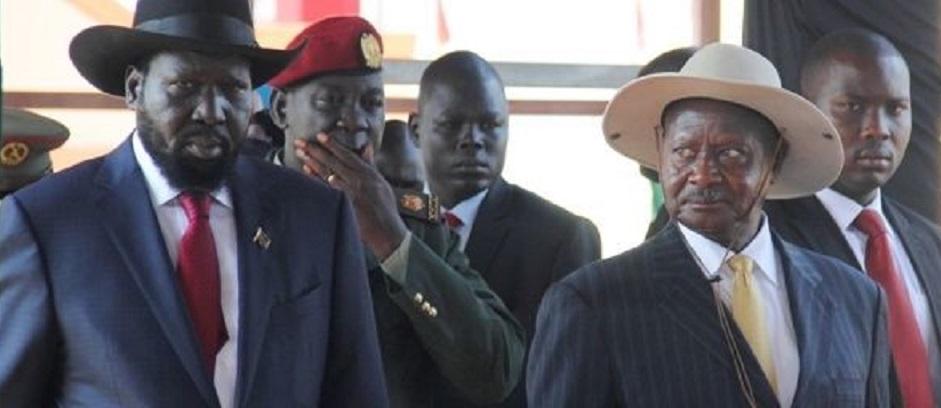 Uganda president Yoweri Museveni and South Sudan President Salva Kiir [Photo by unknown]