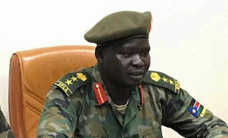 Senior opposition official of South Sudan United Front Colonel Dickson Gatluak Joak [Photo via Radio Tamazuj]