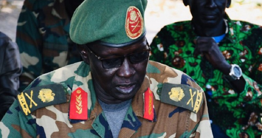 Former SPLA-IO commander General Ochan Puot who defected to the government in August 2018 [Photo by unknown]