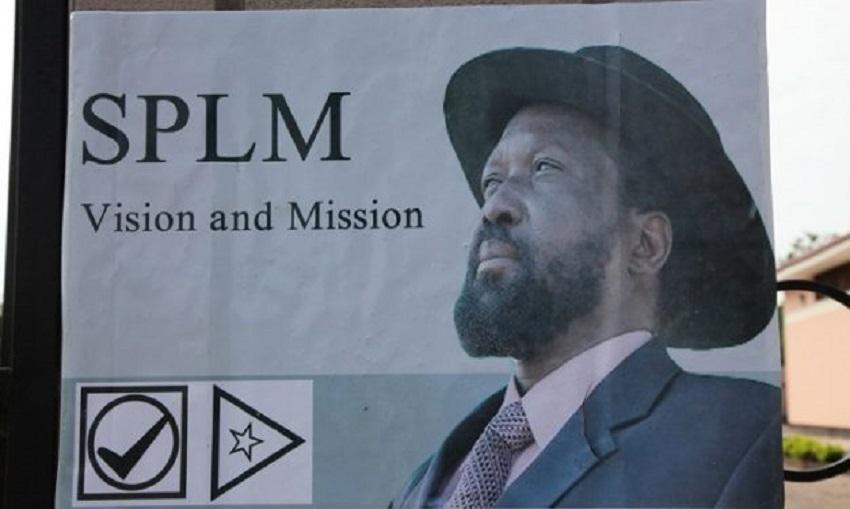 Poster of President Salva Kiir Mayardit seen during 2010 Sudan elections [Photo via Centre for Security Governance]