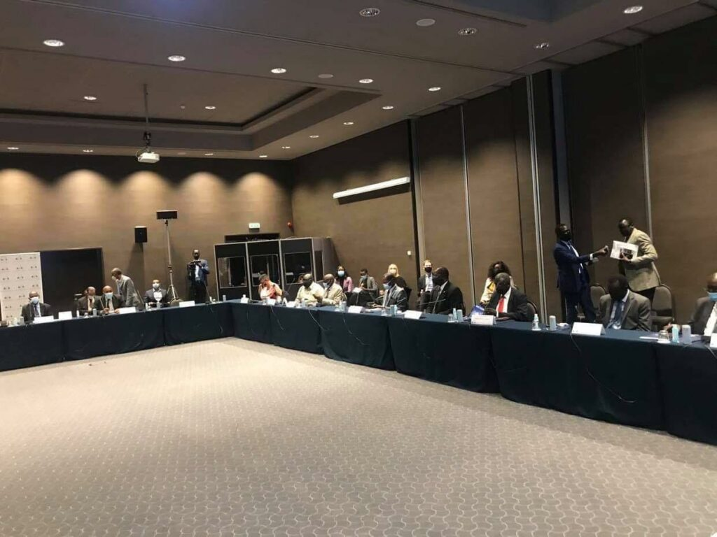 South Sudan parties meeting in Rome, Italy, on October 12, 2020 [Photo by Sudans Post]