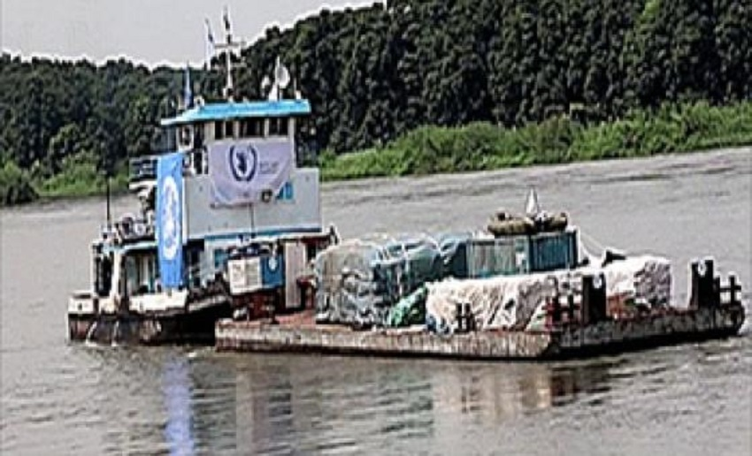 WFP food being delivered via the River Nile [Photo by WFP South Sudan]