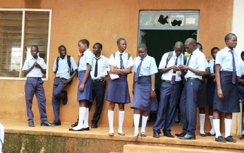 Students seen at Juba-Day Secondary School in Juba [Photo by unknown]