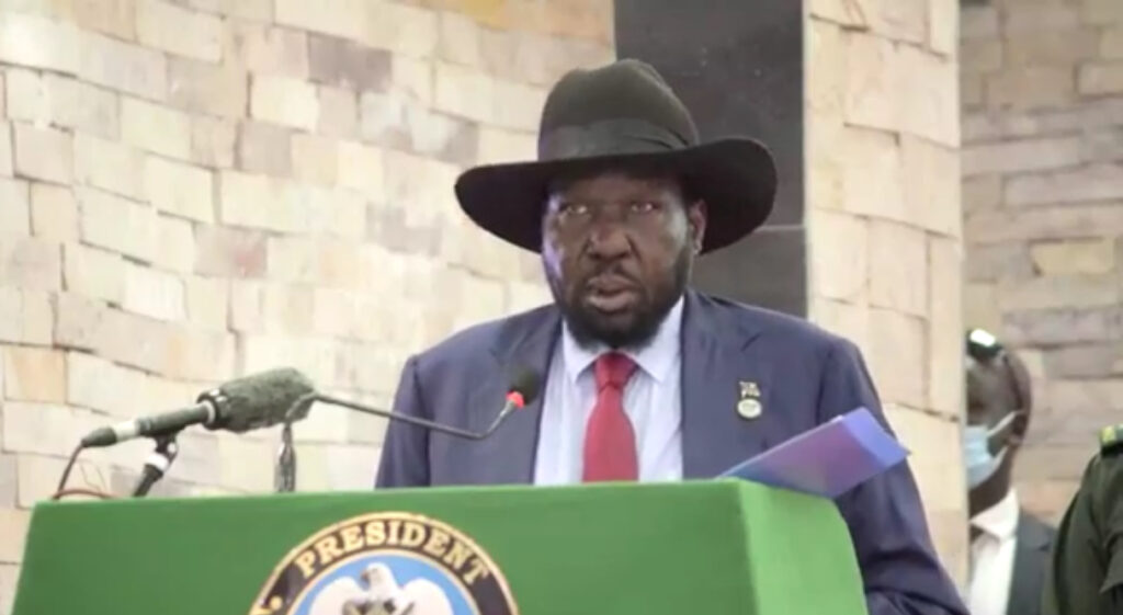 South Sudan president, Salva Kiir Mayardit, speaking during the closing session of the National Dialogue Conference in Juba on Tuesday, November 17, 2020 [Photo by Sudans Post]
