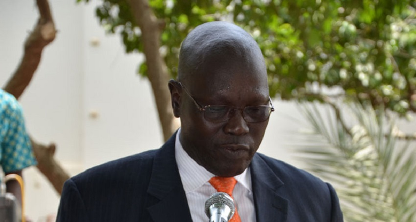South Sudan central bank governor, Dier Tong Ngor [Photo via Facebook page of the Central Bank]
