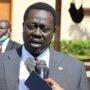 South Sudan vice-president Hussein Abdelbaggi speaking to reporters in Khartoum on Monday, November 16, 2020 [Photo by Nancy Abdelrahman/SudansP Post]