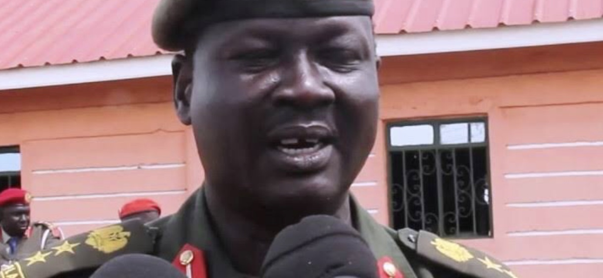 Acting South Sudan army spokesman Brigadier-General Santo Domic [Photo via Radio Tamazuj]