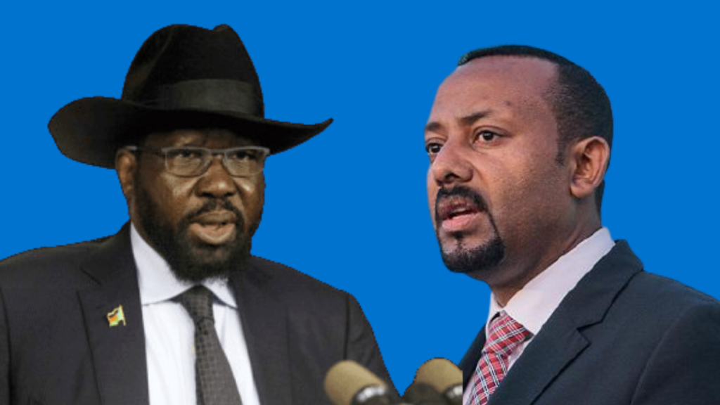 South Sudan president Salva Kiir Mayardit (left) and Ethiopian Prime Minister Dr. Abiy Ahmed [Photos via Getty Images]