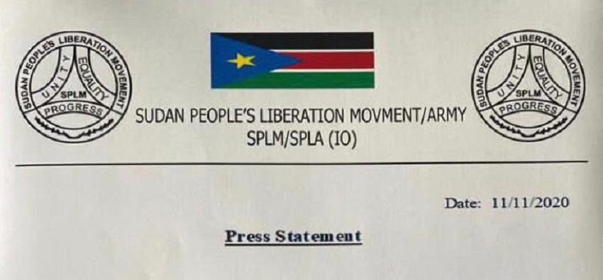SPLM-IO statement on resignation of Secretary-General Tingo Peter [File obtained by Sudans Post]