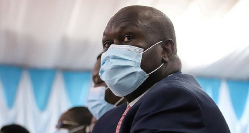 SPLM-IO leader Dr. Riek Machar Teny attending the signing ceremony of the Sudanese peace deal in Juba in October [Photo via AFP]