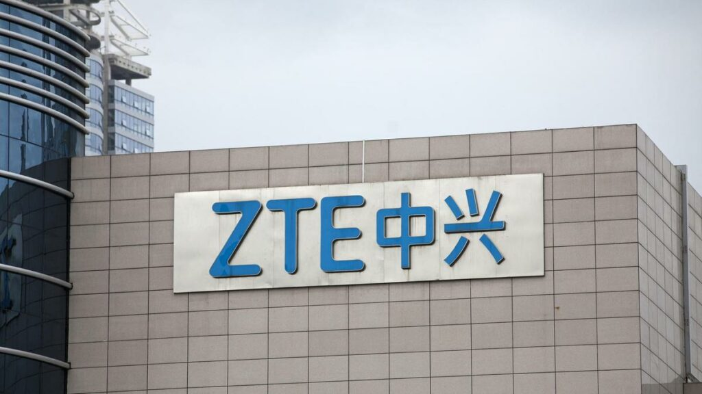 ZTE headquarters in Shenzhen, China. [Photo by Giulia Marchi/Bloomberg]