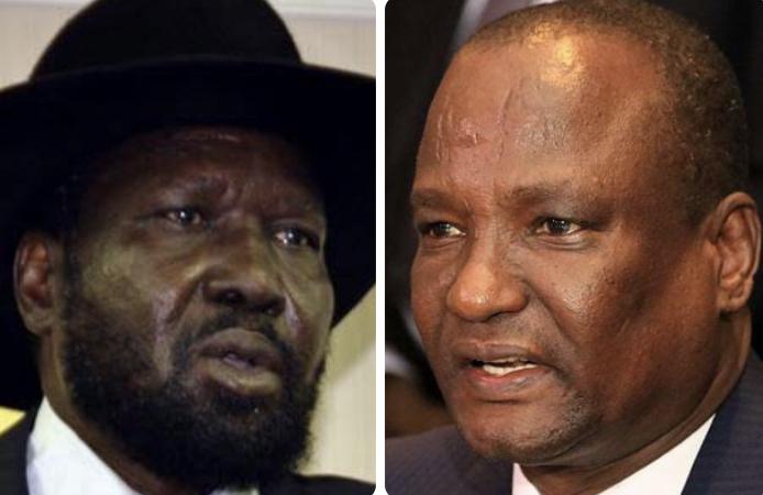 President Salva Kiir (right) and Vice-President Taban Deng Gai [Photo via Reuters/Getty Images]
