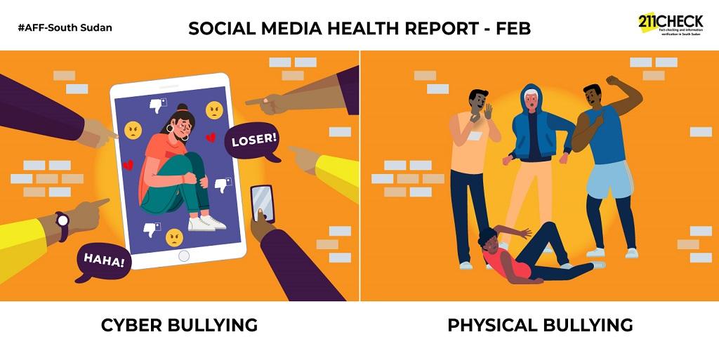 Social media bullying [Illustration by DefyHateNow/211 Check]