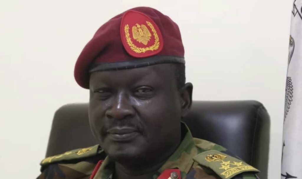 Acting South Sudan army spokesman Brigadier-General Santo Domic Deng [Photo by Sudans Post]