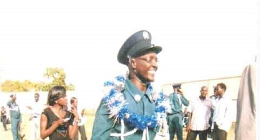 Former South Sudan police office Colonel Dominic Gabriel Mogga Baba during graduation [Photo Courtesy]