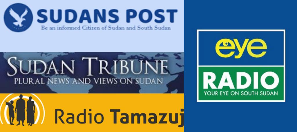 South Sudan media houses logos [Courtesy]