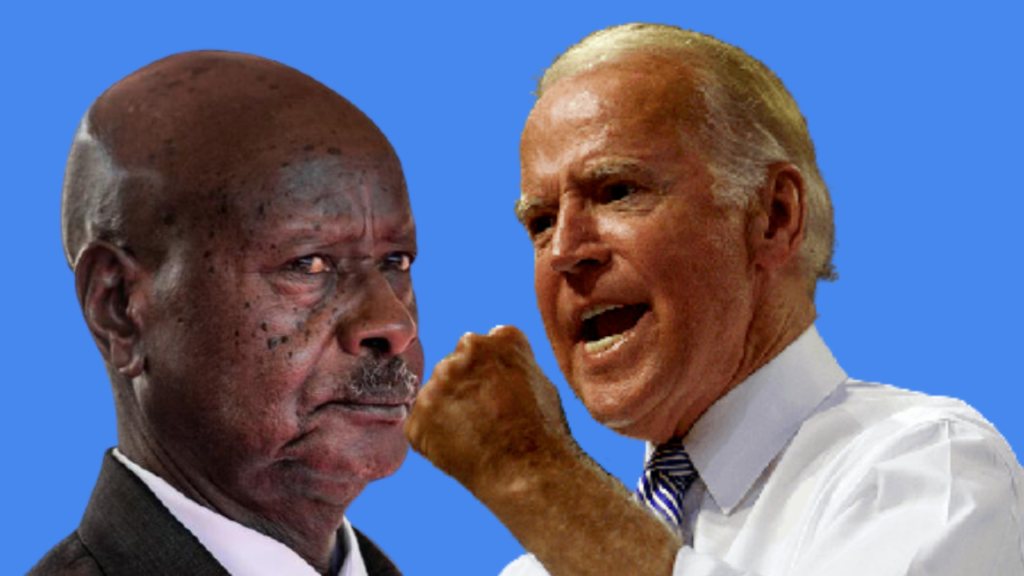 Mixed images of US President Joe Biden (right) and Ugandan President Yoweri Museveni [Photos from Getty Images]