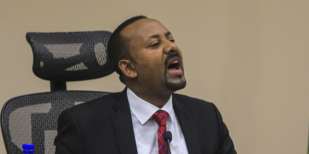 Ethiopian Prime Minister Abiy Ahmed speaks during a question and answer session in parliament, Addis Ababa, Ethiopia 30 November 2020. [Photo via New Europe website]