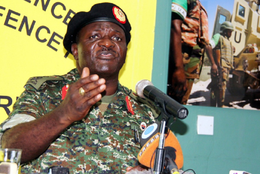 Ugandan Minister of Works and Transport and a four-star general in the Uganda People's Defence Forces (UPDF) Edward Katumba Wamala [photo via Facebook]