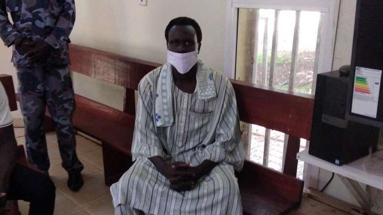 1st Lt. Judo Michael Logoro, 24, at the GBV Court in Juba on Wednesday, June 2, 2021 [Photo by Michael Daniel/Eye Radio]
